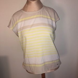 Tommy Hilfiger beige yellow white stripes top